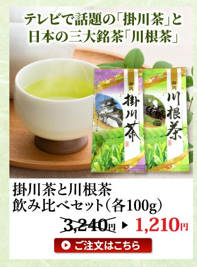 掛川茶と川根茶飲み比べ