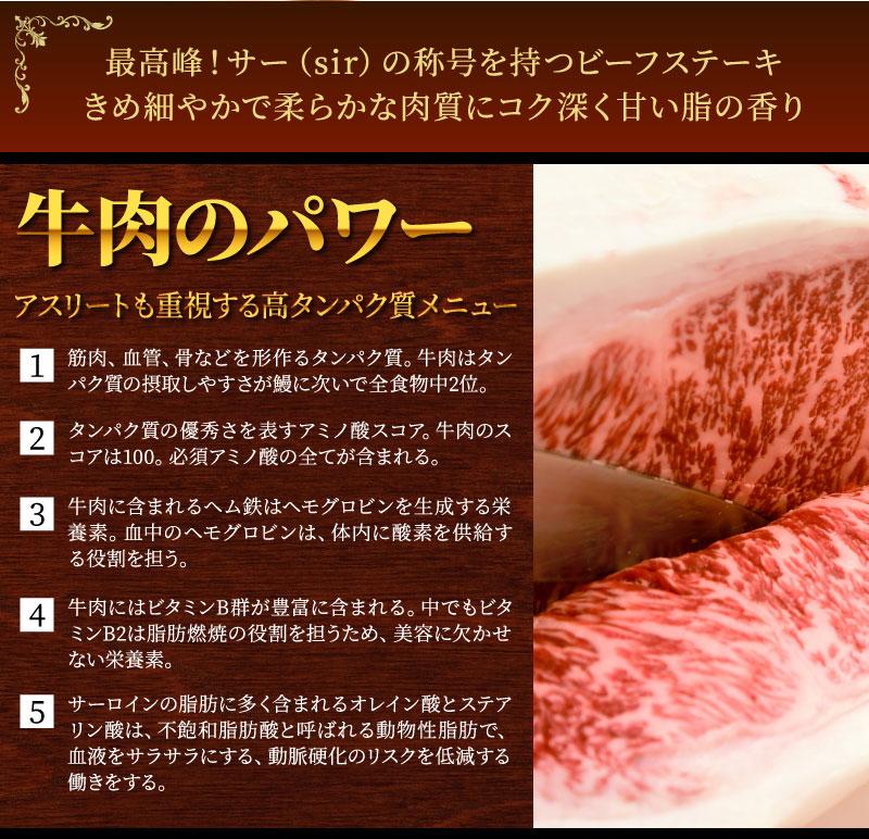 サーロインステーキ タンパク質